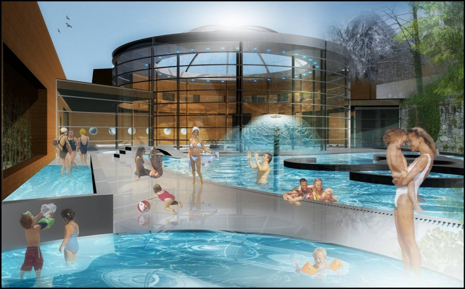 Cauterets famous spa resort for Piscine thermale
